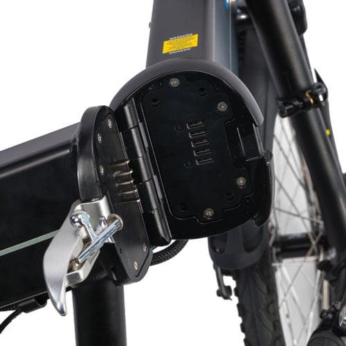 mecanismo de plegado y batería - Bicicleta eléctrica plegable - Devron 201