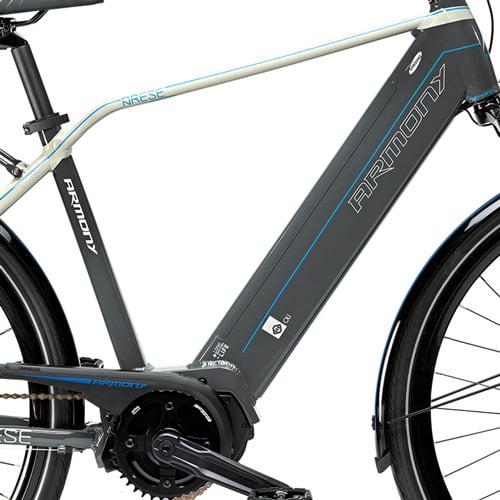 cuadro, batería y motor central - Bicicleta eléctrica Arese