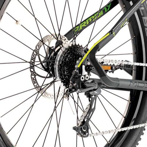 Cambio y freno de disco - Bicicleta eléctrica MTB Moena