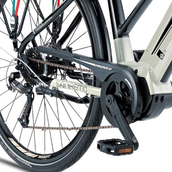 Cambio y motor central - Bicicleta eléctrica Trekking Sanremo