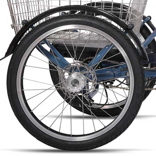 Freno de disco triciclo electrico Lingotto