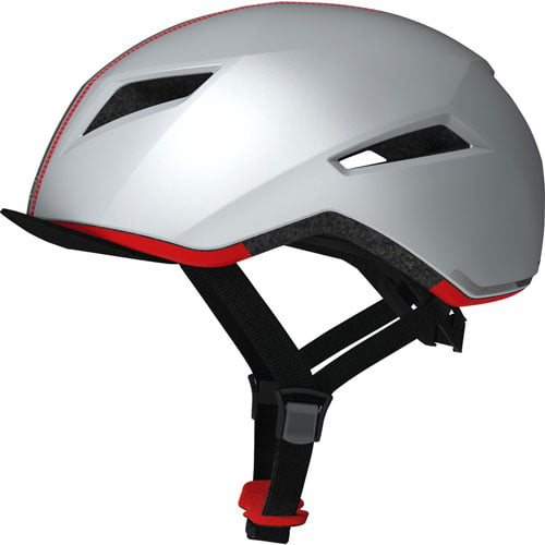 Casco de bicicleta ABUS CREDITION plata lateral