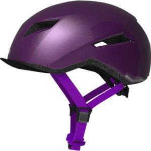 Casco para bicicleta urbano ABUS púrpura lateral
