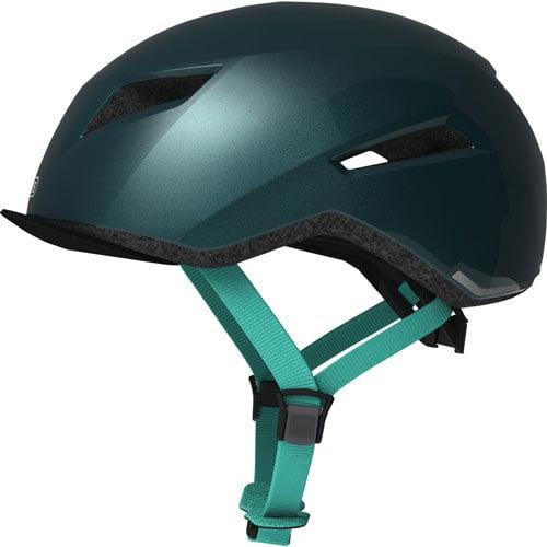 Comprar casco para bicicleta ABUS esmeralda lateral