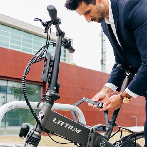 candado bicicleta electrica plegable - Littium IBIZA TITANIUM