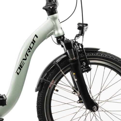 suspensión bicicleta eléctrica plegable Devron