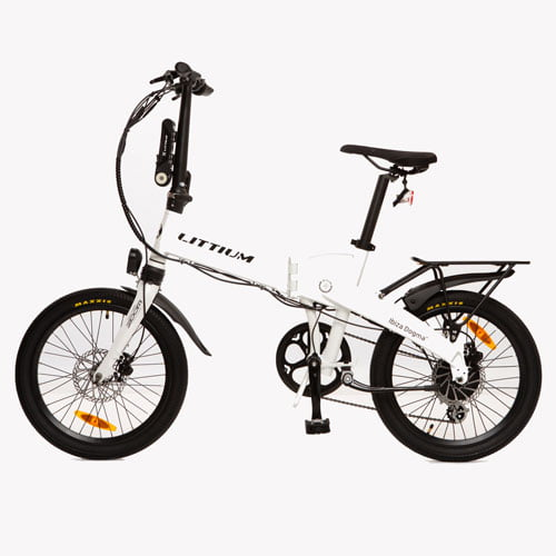 bicicleta eléctrica IBIZA DOGMA 03 blanco