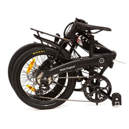bicicleta eléctrica IBIZA DOGMA 03 negro plegada