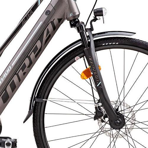suspensión Bicicleta eléctrica urbana ALETA T266 de Torpado con motor central BAFANG
