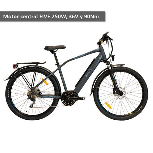 bicicleta electrica trekking trail ultra con motor central de 250W y 90Nm